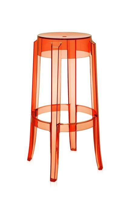 Charles Ghost stool by Kartell, design Philippe Starck