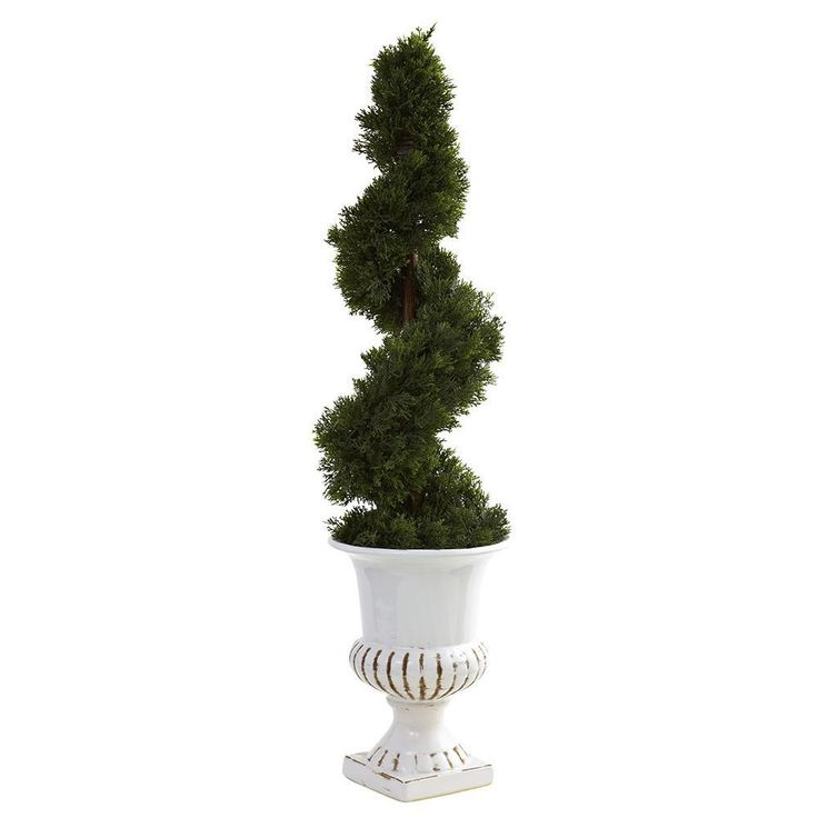 Artificial Tree Cedar Spiral Tree With Urn