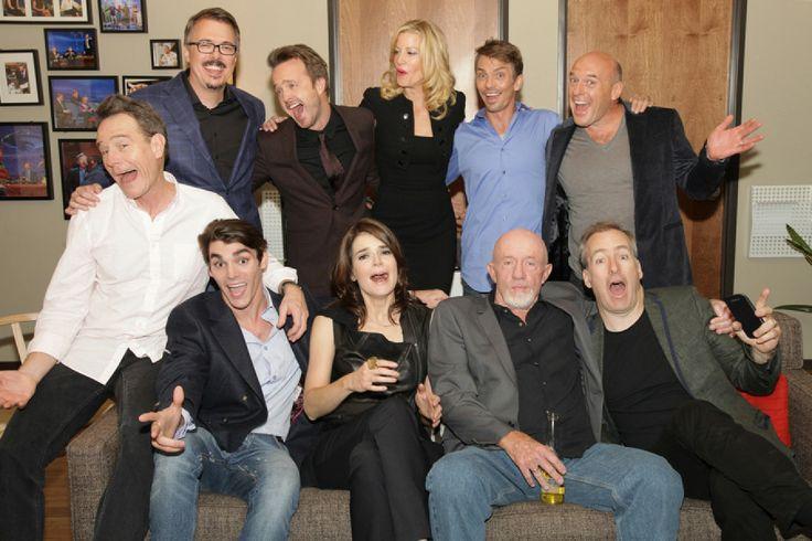 Breaking Bad: Bryan Cranston, Vince Gilligan, Aaron Paul, Anna Gunn, Charles Baker, Dean Norris, RJ Mitte, Betsy Brandt, Jonathan Banks & Bob Odenkirk.