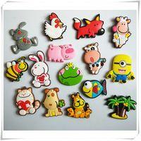 Ücretsiz kargo (10 adet/grup) Sevimli Karikatür Hayvan buzdolabı mıknatısları beyaz tahta sticker Silikon Jel Buzdolabı Mıknatıslar Çocuk hediye