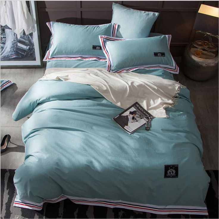 ==> [Free Shipping] Buy Best white/pink/green cotton bedding set adults 4pcs solid color Minimalist bed linen home textile bedclothes duvet cover bedspread Online with LOWEST Price | 32809141717