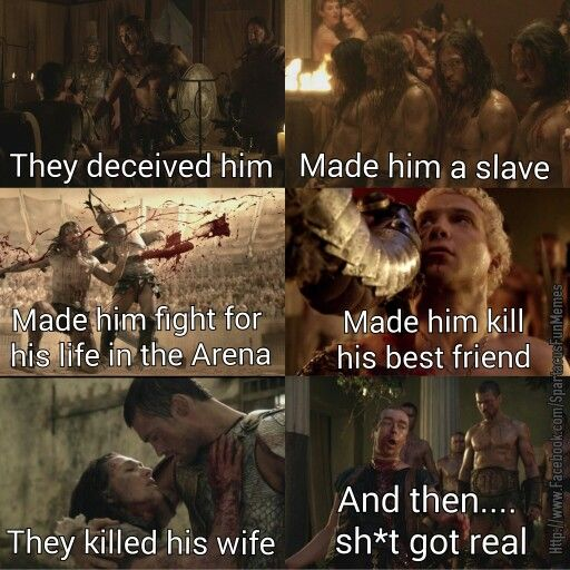 Andy Whitfield Spartacus. This is why he must kill them all