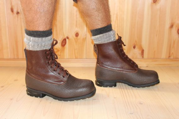 Mens Boots Swedish Army Genuine Leather by SoYesterdaySoCool