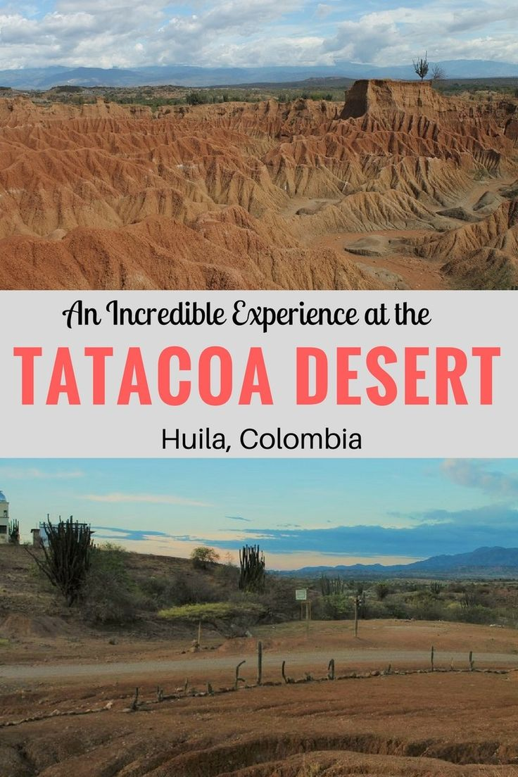 Tatacoa Desert is an hour away from Neiva and it is an incredible place to visit in Colombia for vast landscapes, colorful sunset, trekking and stargazing.