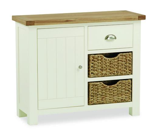 suffolk, oak, small sideboard, sideboard, baskets