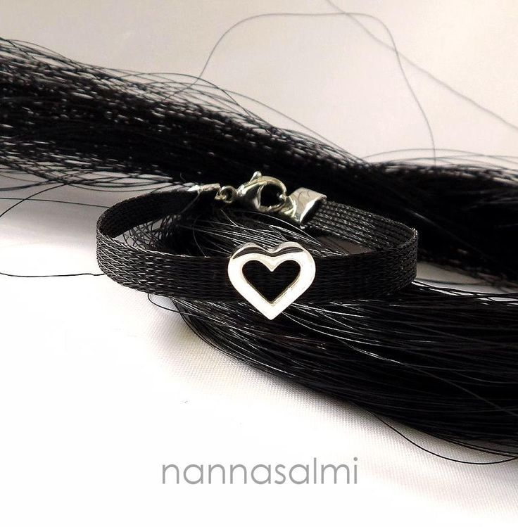 Bracelet Puella, woven ribbon made with your own horse´s hair www.nannasalmi.com www.nannasalmi.fi