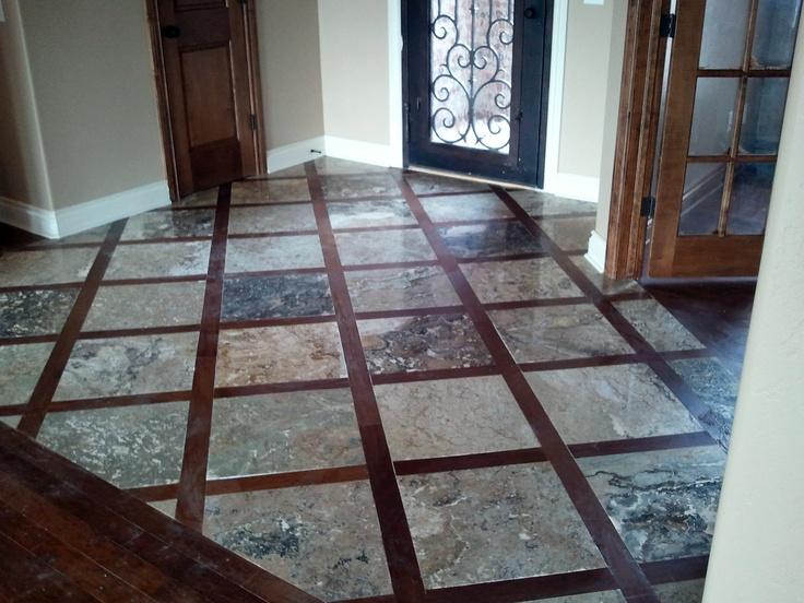Wood Framed Travertine Floor Home Improvement Pinterest