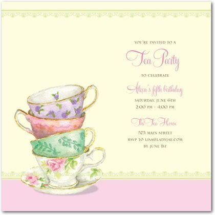 25+ best ideas about high tea invitations on pinterest | kitchen, Party invitations