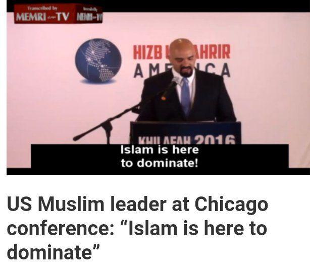 "DEBRA GIFFORD (@lovemyyorkie14)   Twitter Enough Said.. US Muslim Leader ""ISLAM IS HERE TO DOMINATE"" #WakeUpAmerica #MuslimBan"