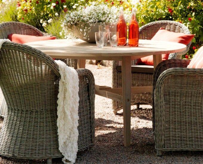 Okrągły stół teak Vigo - Stoły teak - Ogrodowy Salon