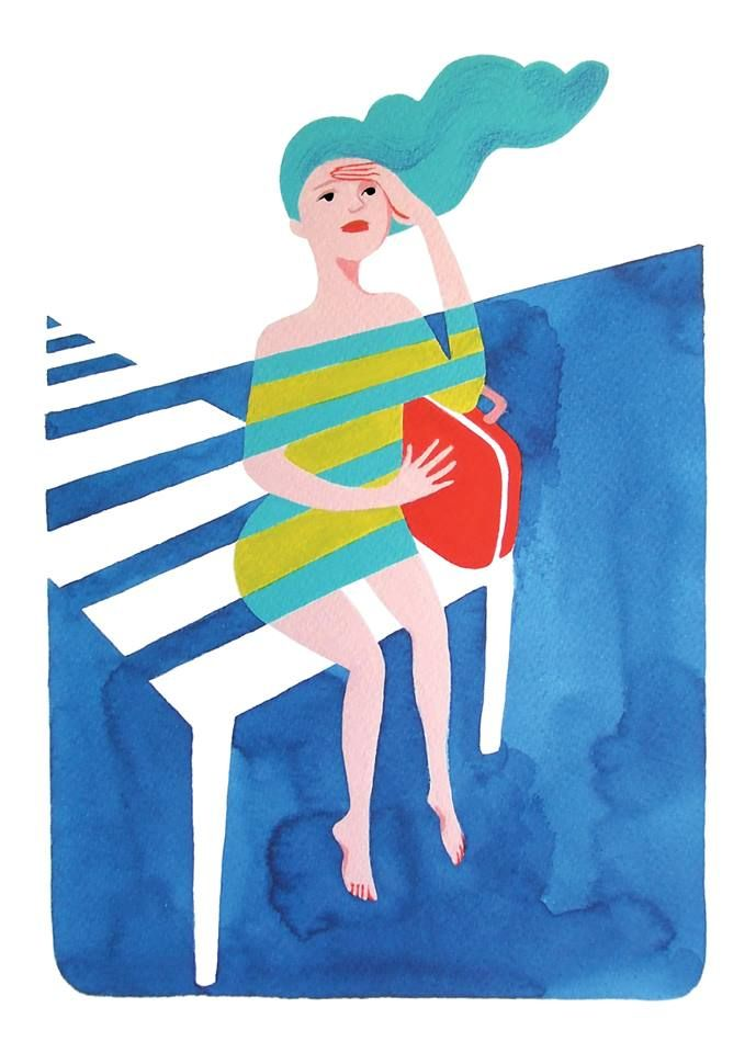 "Illustration made for a collective show:  ""The Love Boat""."