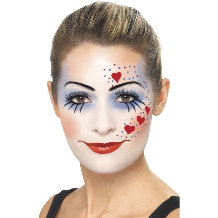 Afbeeldingsresultaat voor clown schmink