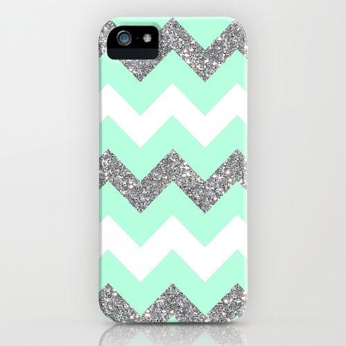 amazon ipod 5 cases for girls | seafoam glitter chevron iPhone & iPod Case