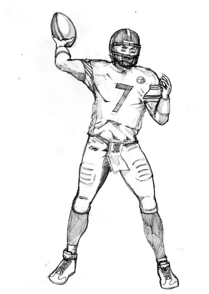 how to draw football players | Football Player Coloring Pages
