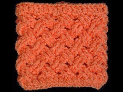 Crochet : Punto Entrecruzado (Tejido de Cesta) Precioso video en ingles con subtitulos en español ❥Teresa Restegui http://www.pinterest.com/teretegui/❥