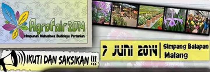 Agro Fair 2014 HIMADATA Fakultas Pertanian Universitas Brawijaya 2014