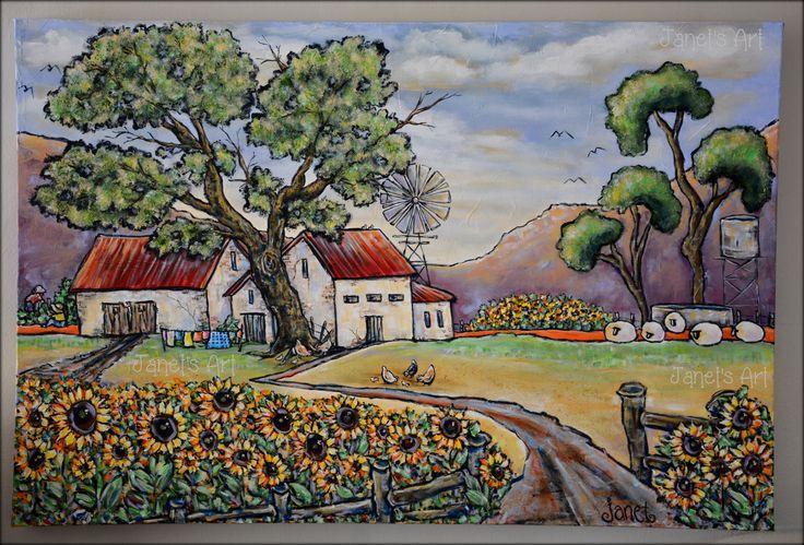 Sunflower farm - Janet's Art janet1bester@gmail.com