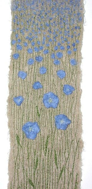 Made about, and of, linen/flax. Embellished linen fibres and machine embroidery. BY ANNE HONEYMAN