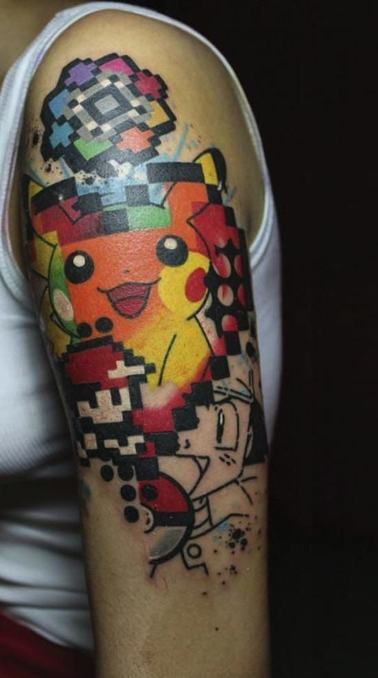 http://www.tattooesque.com/pixel-pikachu-tattoo/