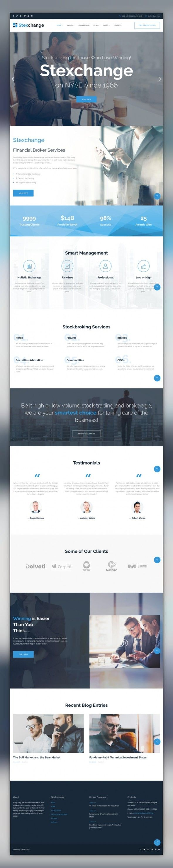 wordpress themes business services finance stexchange is a well documented theme with elegant design clean code great documentation - Great Website Design Ideas