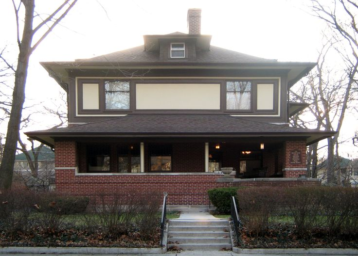 William M. Adams House, located at 9326 South Pleasant Avenue in Chicago, Illinois, United States.  Built 1900-1901.House 9326, Adam House, 1900 1901, Williams Adam, Frank Lloyd Wright, Williams M Adams House, Architecture, 9326 South, Chicago