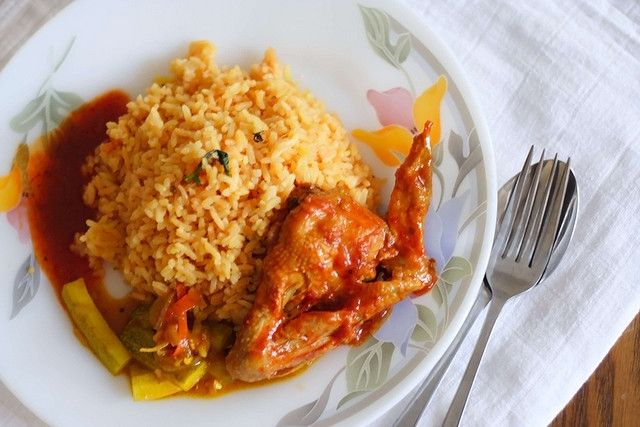 "Tomato rice served with acar (Malaysian pickle) and spicy chicken. The piquant spices definitely help to increase the appetite. Such a great Malay food!    Bought from a Malay stall at Subang Jaya Night Market.     You can Eat LOTS of Carbs and NEVER Store Them As Fat - all While You ""FIX"" Your Broken Metabolism To Achieve RAPID Fat Loss WITHOUT The Pain, Suffering and Drudgery of EVER ""Dieting"" Again"