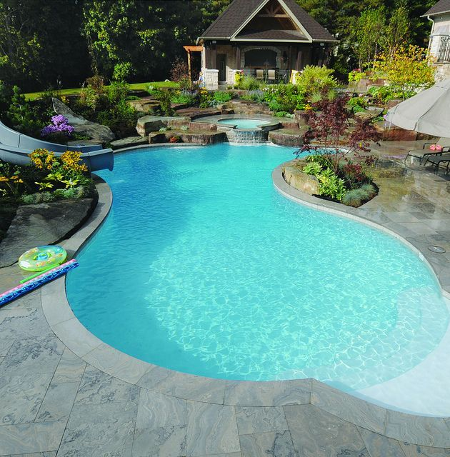 1542 best Awesome Inground Pool Designs images on Pinterest | Pool ...