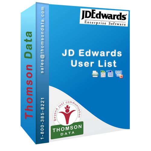 JD Edwards User Lists targets the JD Edwards Decision Makers Professionals List that use JD Edwards Enterprise Resource Planning (ERP) software users.