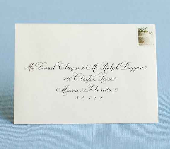 Addressed Wedding Invitations: 17 Best Images About Invitiations On Pinterest