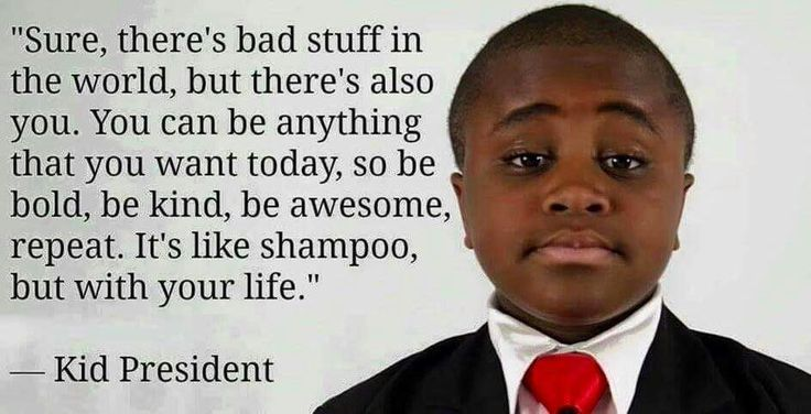 Don't be a negative, not-good piece of crap. Be the change you wish to see in the world.