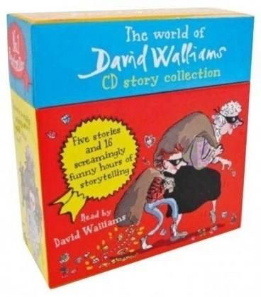 The World of David Walliams CD Story Collection. Reading through the likes of Gangsta Granny, Ratburger and Mr. Stink with trademark zeal, David will keep the whole family entertained on any long journeys as he voices his much-loved characters and tells his enchanting stories, with a tiny bit of help from Little Britain cohort Matt Lucas.