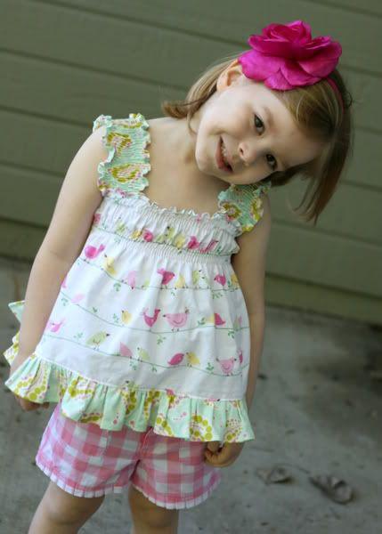 Ruffled tank for little girl - tutorial
