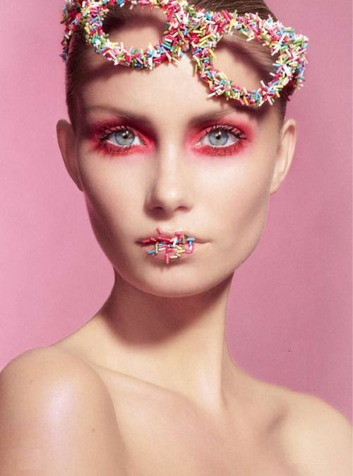 Sprinkle glasses and lips: Face, Make Up, Inspiration, Sweet, Sprinkles, Makeup, Pink, Beauty