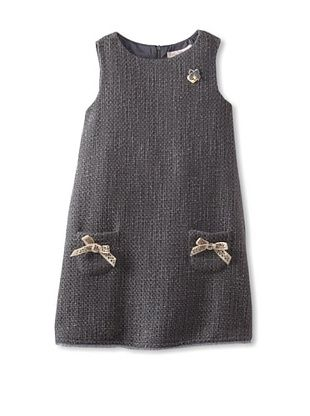 50% OFF Blumarine Girl's Tweed Jumper (Gray)