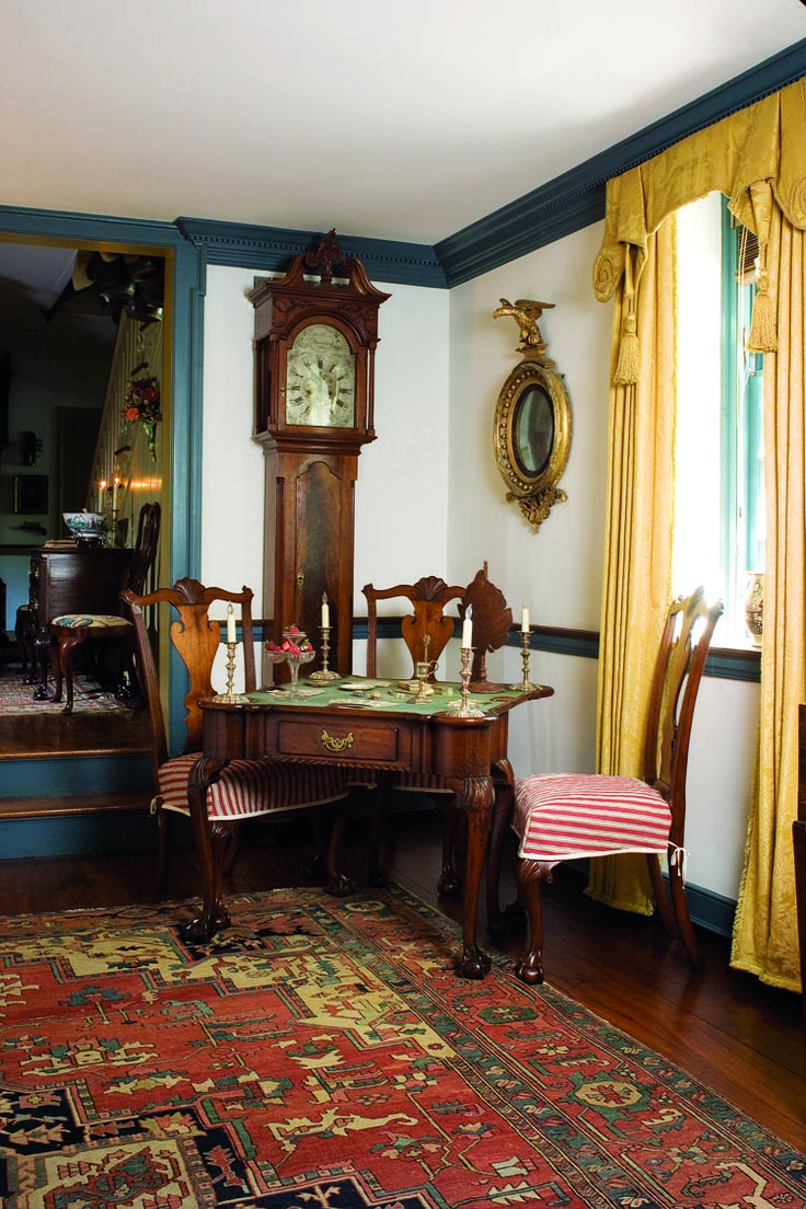 Best Images About Colonial Decor On Pinterest -  colonial living room furniture