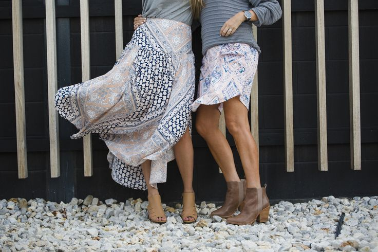 Our 'Gypsy maxi skirt' and 'Matilda tunic dress', available online now.  www.featherandnoise.com