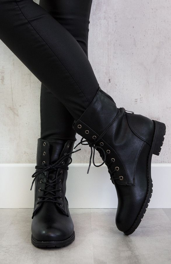 Biker Buckle Zip Boots | Styles for me in 2019 Laarzen