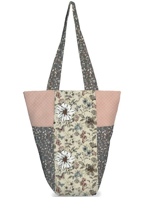Free Pattern A Quick And Easy To Make Shaped Tote Bag Designed By Janet Dard Using The Dream Collection From Makower Uk