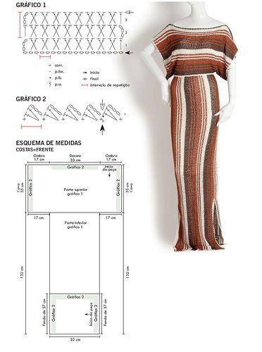 crochelinhasagulhas: Vestido longo de crochê by Giovana Dias
