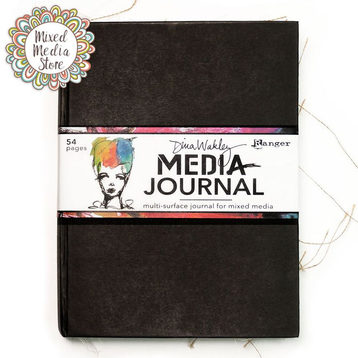 54 pages, containing burlap, canvas, watercolour paper & Kraft surfaces!! The Dina Wakley Media Journal really puts the 'mix' into 'mixed media'!