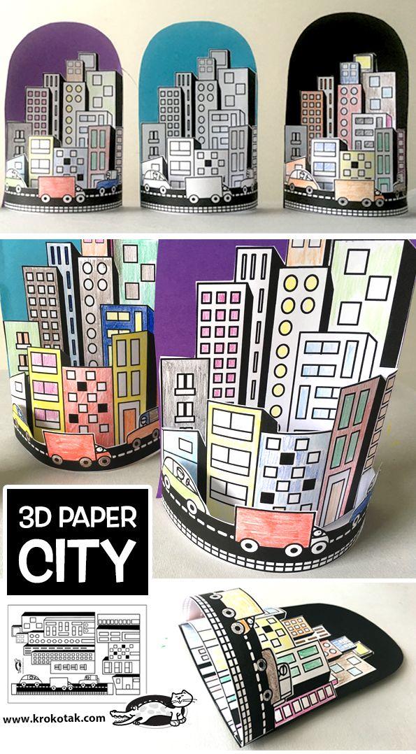 3D PAPER CITY (krokotak)