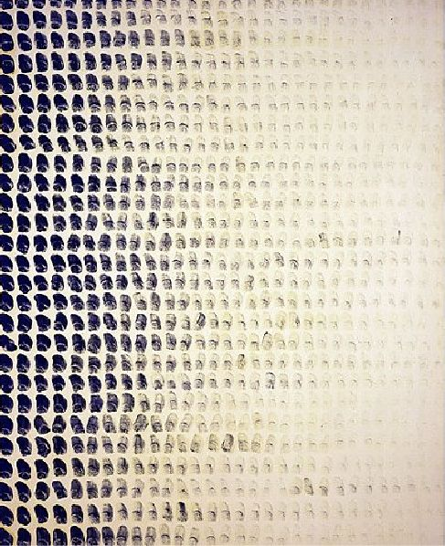 Lee Ufan. From Point, 1973. Glue on canvas, 163x130cm