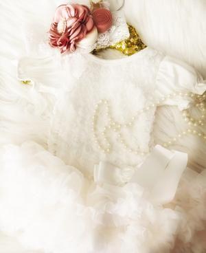 Rosie White Roset Ruffle Puff Sleeve Dress