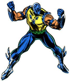 Gladiator (Melvin Potter) was initially depicted as a supervillain and one of the first enemies of the superhero Daredevil. In civilian life, he is a costume-designer at the Spotlight Costume Shop in New York City. He eventually reformed and became one of the staunchest supporters of Daredevil. Strength, brawler, armor, deadly blades/saws. H4H