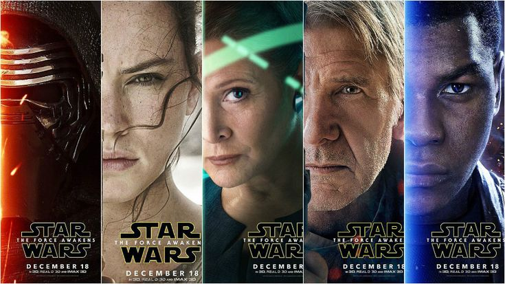 Star Wars: The Force Awakens' new character posters revealed |