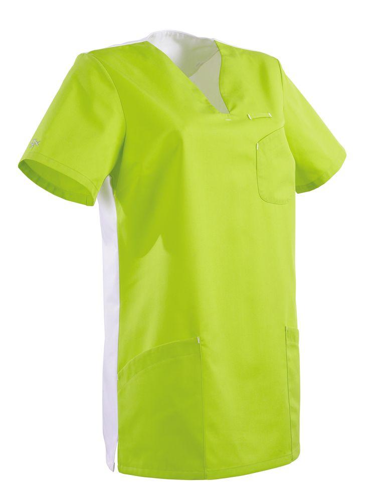 Blouse medicale femme Maithe Granny et blanc de la collection CLEMIX Lafont  Une blouse médicale couleur jolie et pas cher