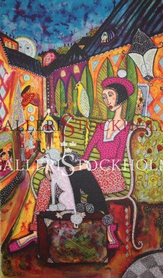 Angelica Wiik - Litografi - Mossebacke Beställ här! Klicka på bilden.