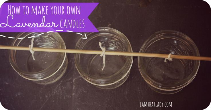 Candles can be so expensive, so I was on a mission to learn how to make candles for less money!  Here I used Emergency candles from the dollar store, to turn into a beautiful Lavender scented candle that is perfect for a small gift!