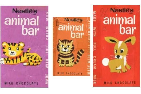 Animal Bars I knew the lady who illustrated these. We had our first cat off her.