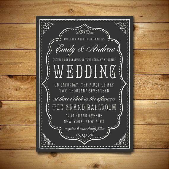 60 best Wedding Invitation Templates images on Pinterest